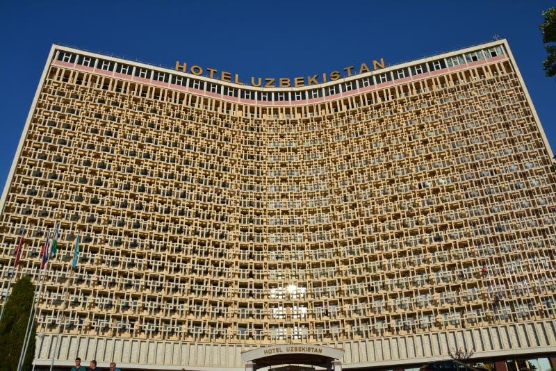 Sovietic arkitektur i Tasjkent Uzbekistan arkivbilder