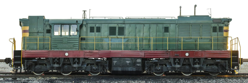 Sovjet diesel die locomotief in republiek ?zech wordt gemaakt royalty-vrije stock afbeelding