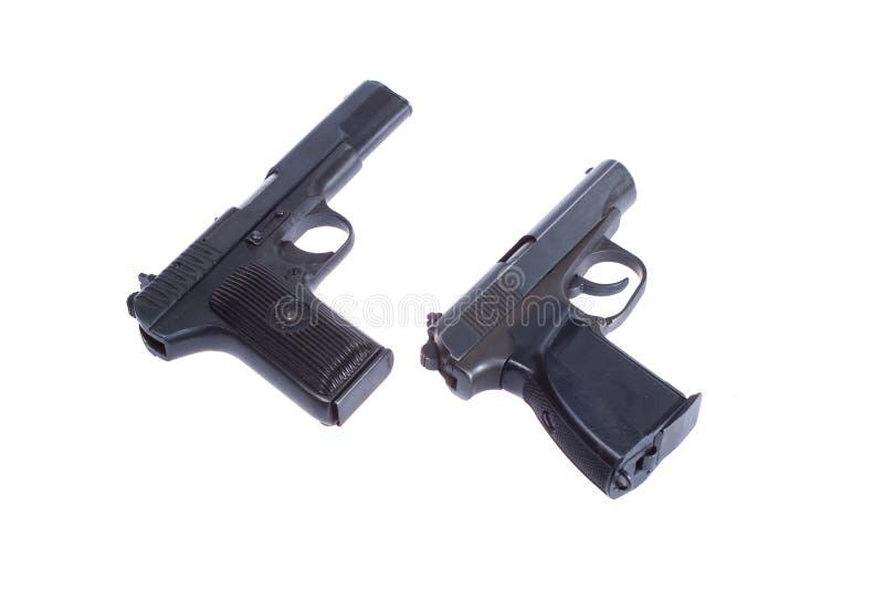 Sovjet pistool TT en PMM stock afbeeldingen