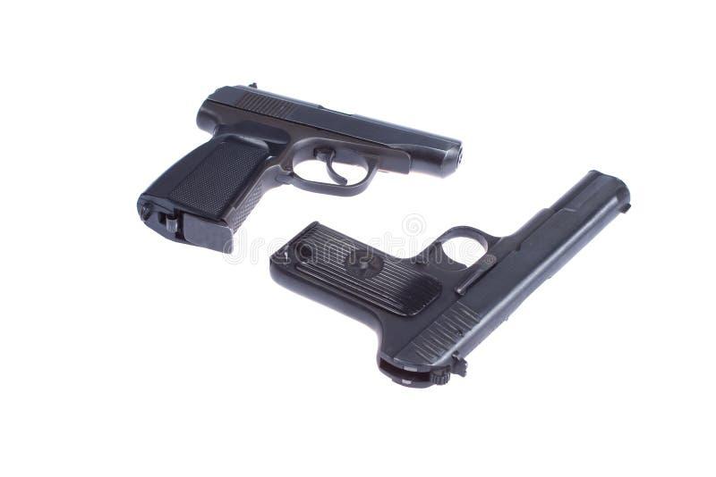 Sovjet pistool TT en PMM stock foto's