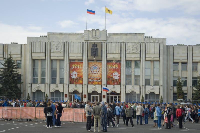 Sovjet vierkant in Yaroslavl royalty-vrije stock fotografie