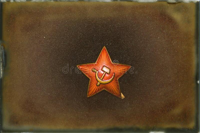 Sovjet WW2 Hat Badge stock fotografie