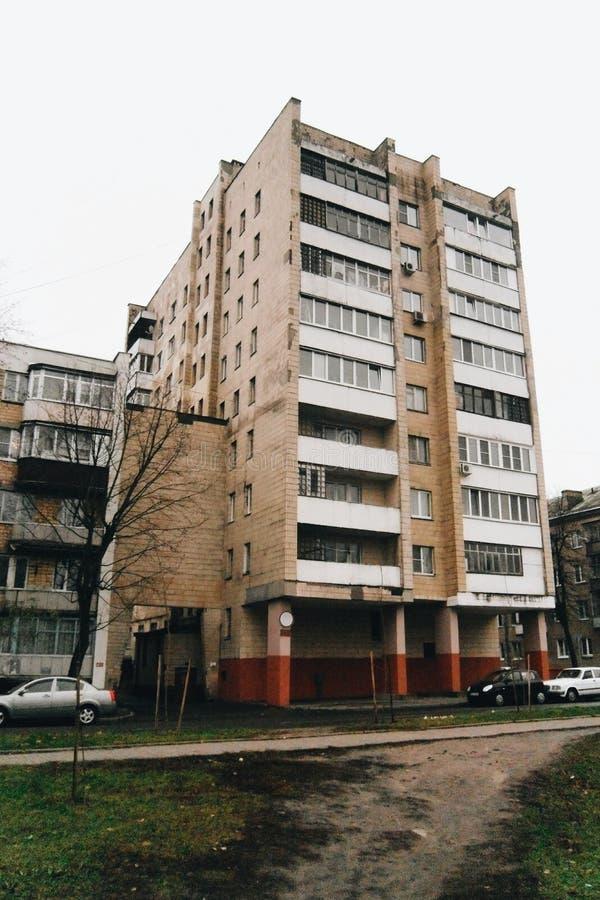 Sovjetisk stad royaltyfria bilder