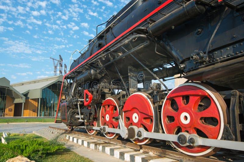 Sovjetiskt lokomotivanbud arkivbilder
