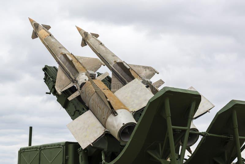 Sovjetiskt system för yt-luft- missil fotografering för bildbyråer