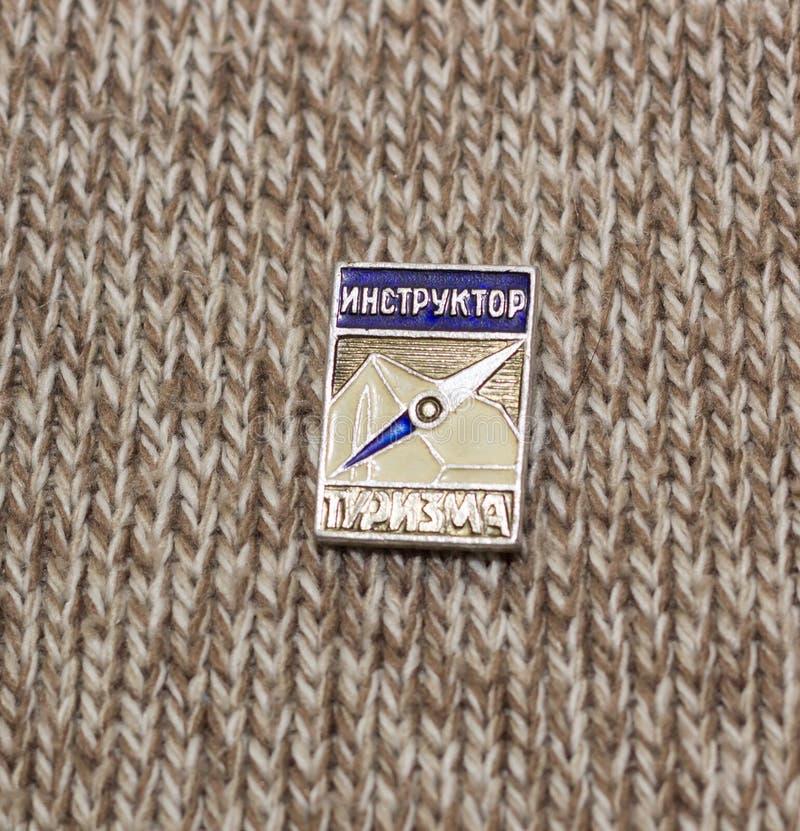 Sovjetkenteken instuctor stock foto's