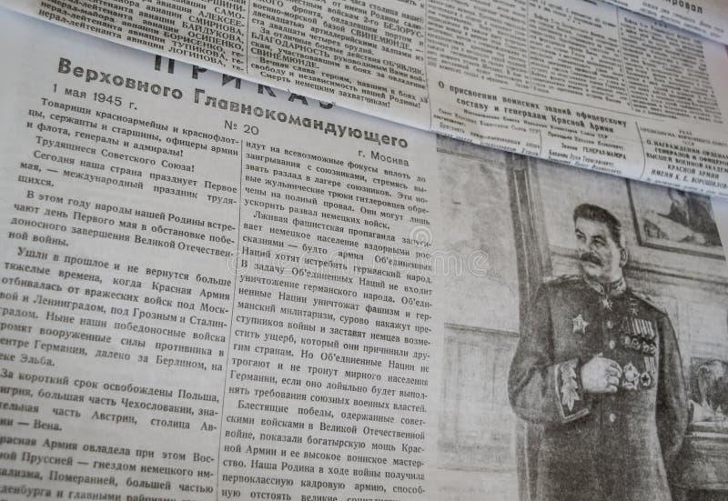 Sovjetkranten in Wereldoorlog II stock foto