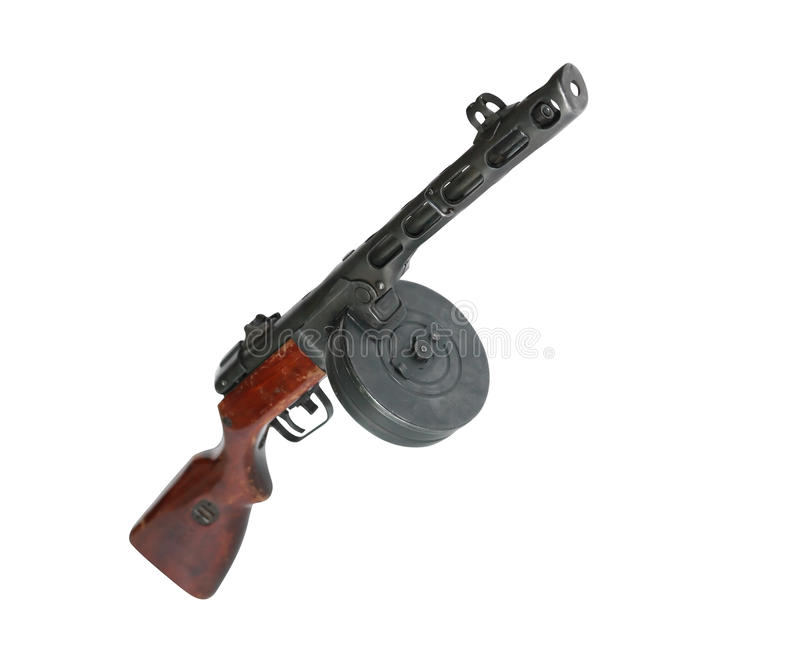 Sovjetmachinegeweer ppsh-41 stock foto