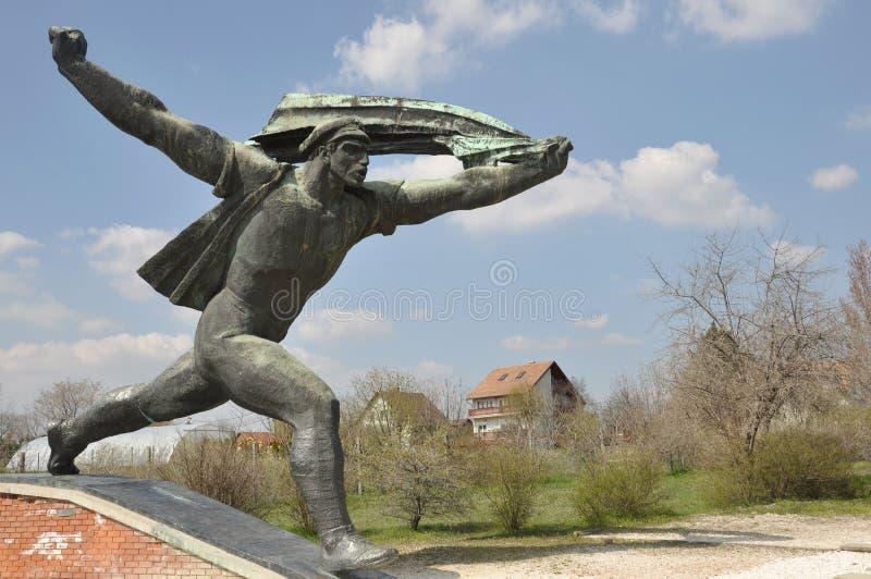Sovjetmilitairstandbeeld in Boedapest royalty-vrije stock foto