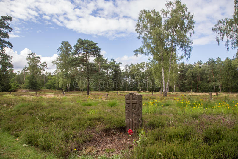 Sovjetoorlogsbegraafplaats royalty-vrije stock foto