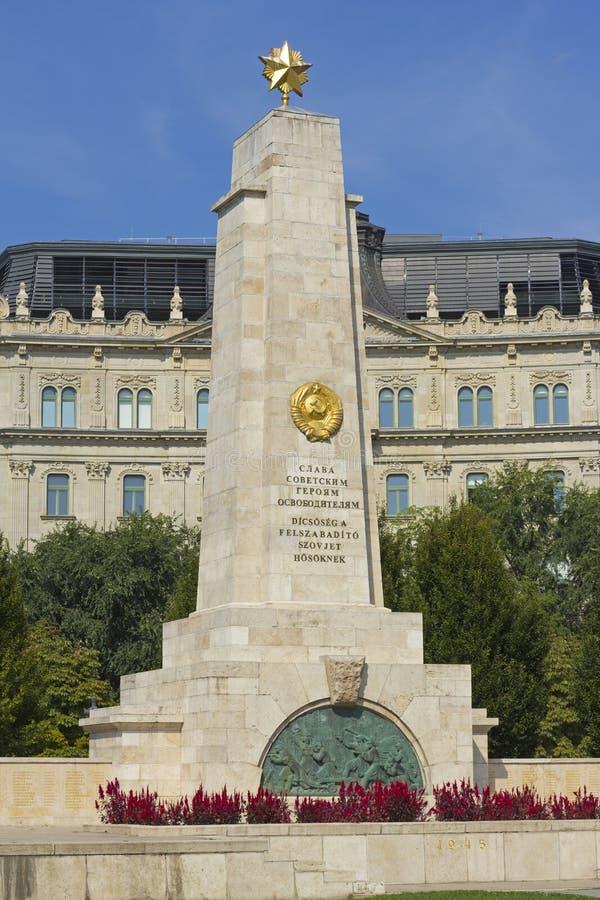 Sovjetoorlogsgedenkteken in Boedapest royalty-vrije stock foto