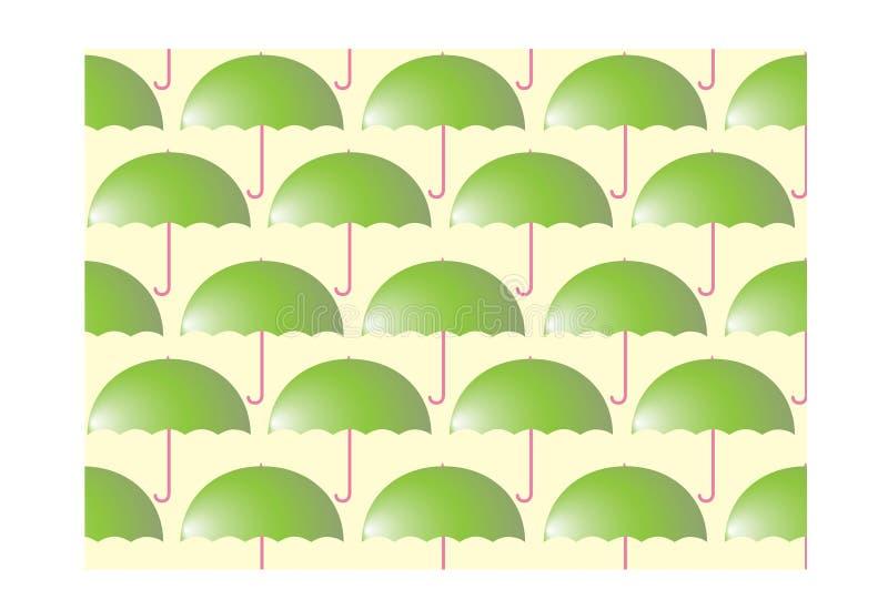 Sovrapposizione astratta luminosa variopinta dell'ombrello illustrazione vettoriale