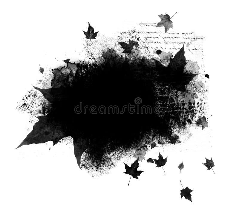 Sovrapposizione di autunno fotografia stock libera da diritti