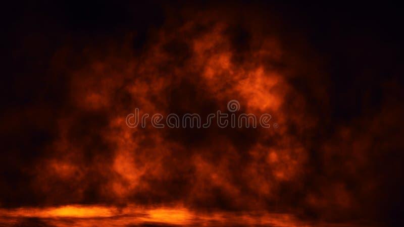 Sovrapposizioni di struttura del fumo del fuoco su fondo isolato Effetto di fondo nebbioso Elemento di disegno fotografia stock