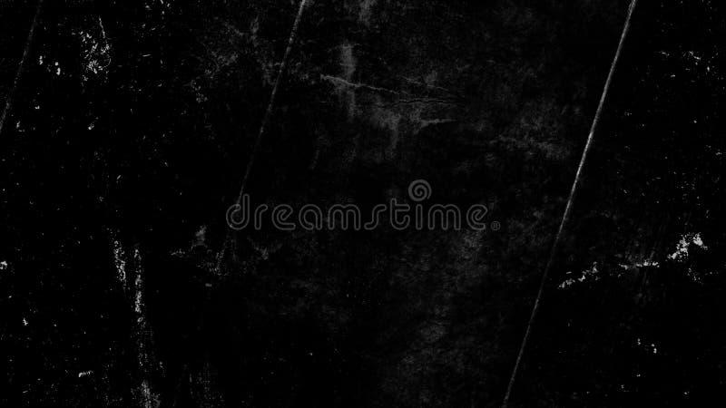 Sovrapposizioni graffiate d'annata di lerciume sullo spazio nero isolato del fondo per testo immagini stock libere da diritti