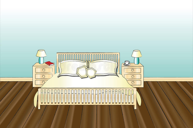 sovrum vektor illustrationer