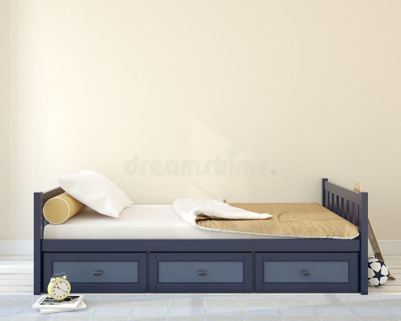 Sovrum för pojke stock illustrationer