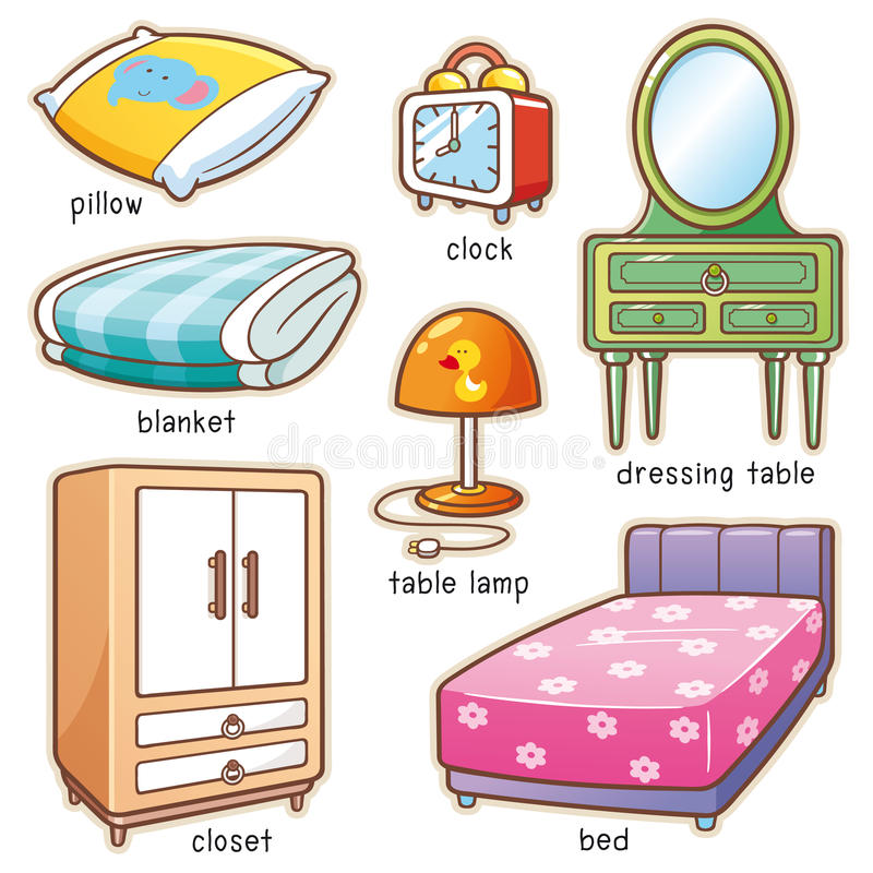 Sovrumbeståndsdel stock illustrationer