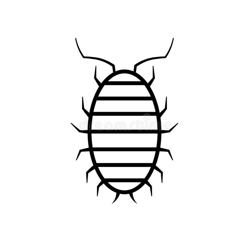 Sow bug icon. Pest control clipart isolated on white background vector illustration
