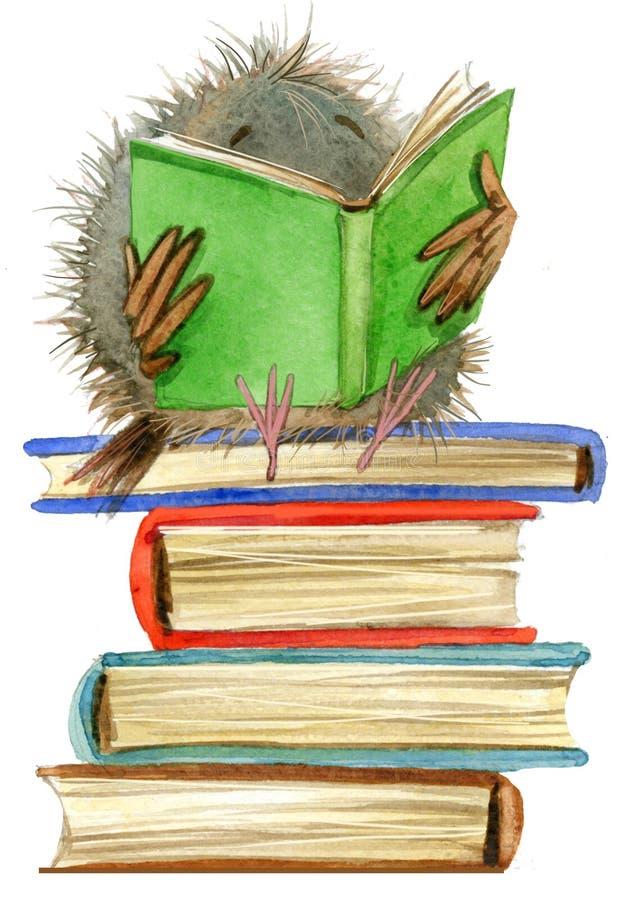 sowa śliczna sowa szkolnych książek ilustracja Kreskówka ptak ilustracja wektor