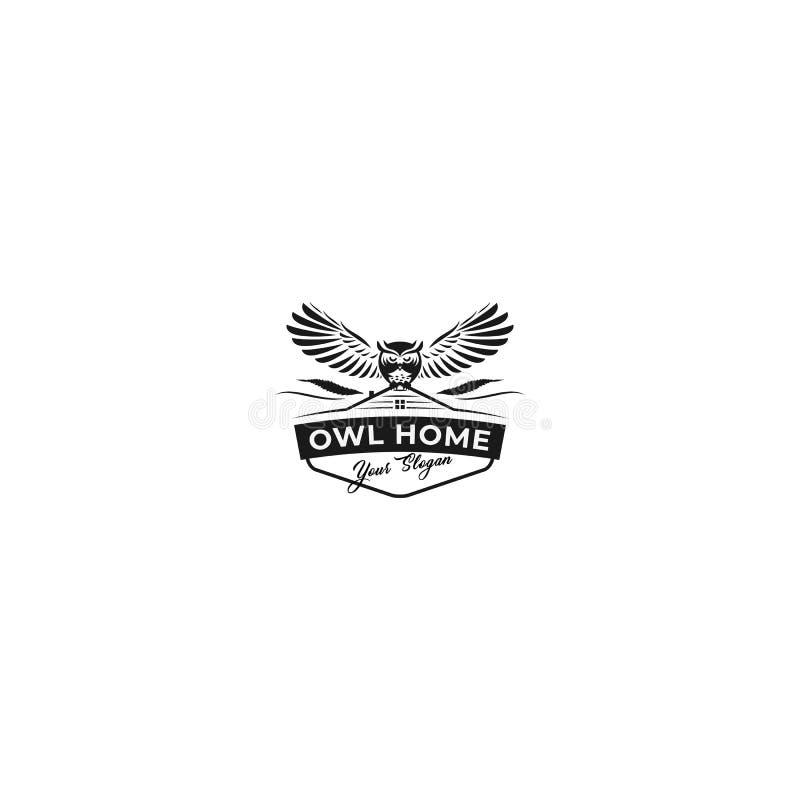 Sowa logo Domowy Klasyczny projekt royalty ilustracja