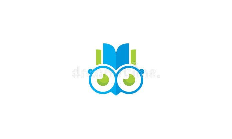 Sowa logo ikony książkowy mądrze wektor ilustracja wektor
