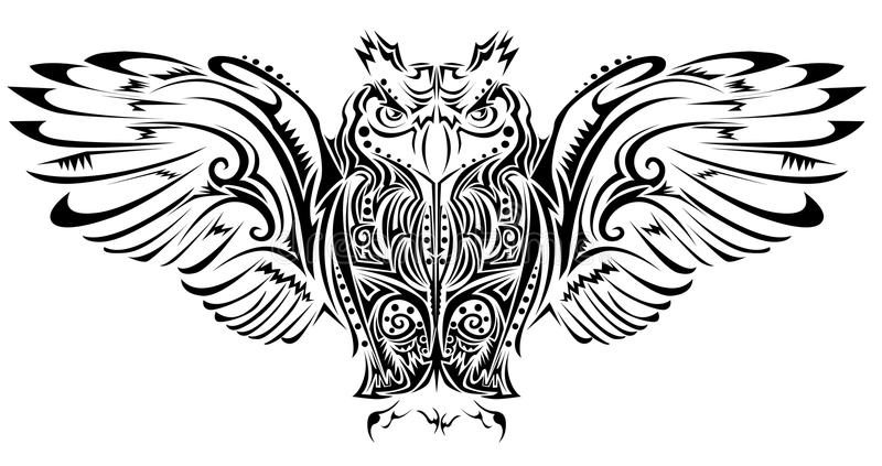 Sowa tatuaż ilustracji