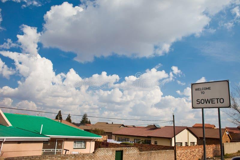 Soweto sign wide. Soweto, Johannesburg, site of the anti-apartheid Soweto Uprising royalty free stock photo