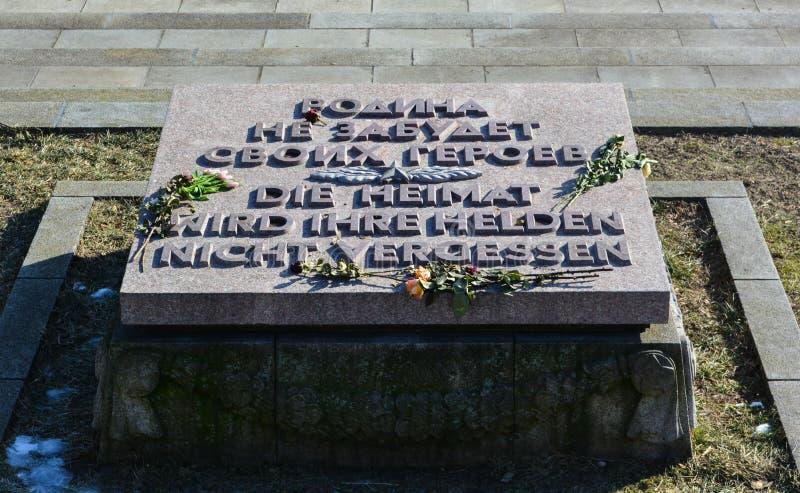 Sowieci Memorial Park, Treptower park - zdjęcie stock