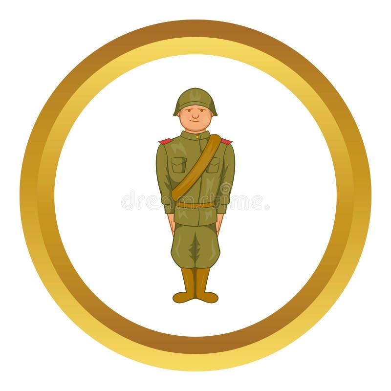 Sowieci mundur drugiej wojny światowa ikona royalty ilustracja