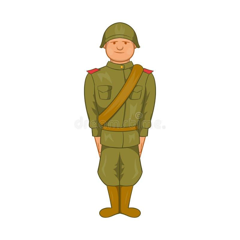 Sowieci mundur drugiej wojny światowa ikona ilustracji