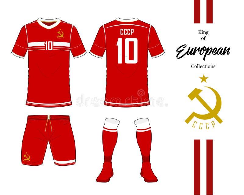 Sowieci - zrzeszeniowy futbolowy drużyna narodowa. mundur ilustracja wektor