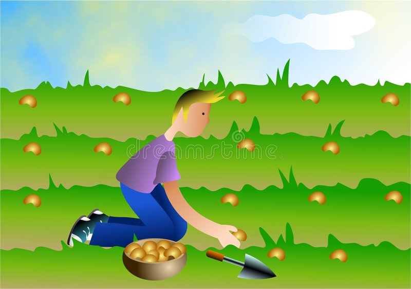Sowing Seeds vector illustration