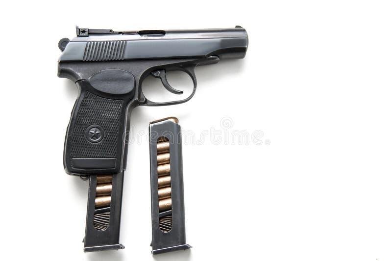 Sowjet-Makarow-Gewehr lokalisiert auf weißem Hintergrund lizenzfreie stockbilder