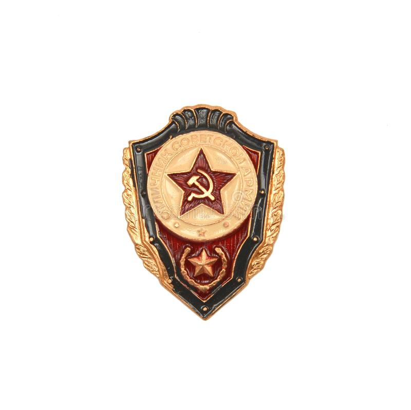 Sowjet UDSSR-Armeeausweis lizenzfreie stockbilder