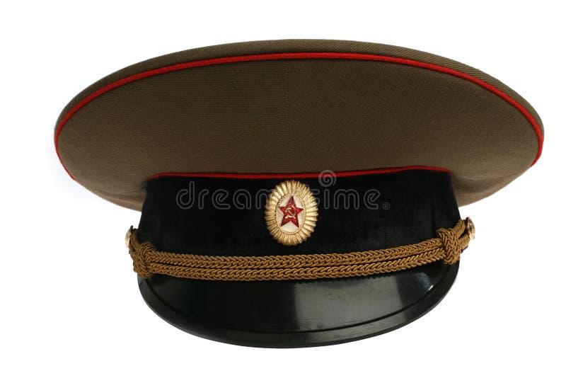Sowjetische Armeeschutzkappe stockfotos