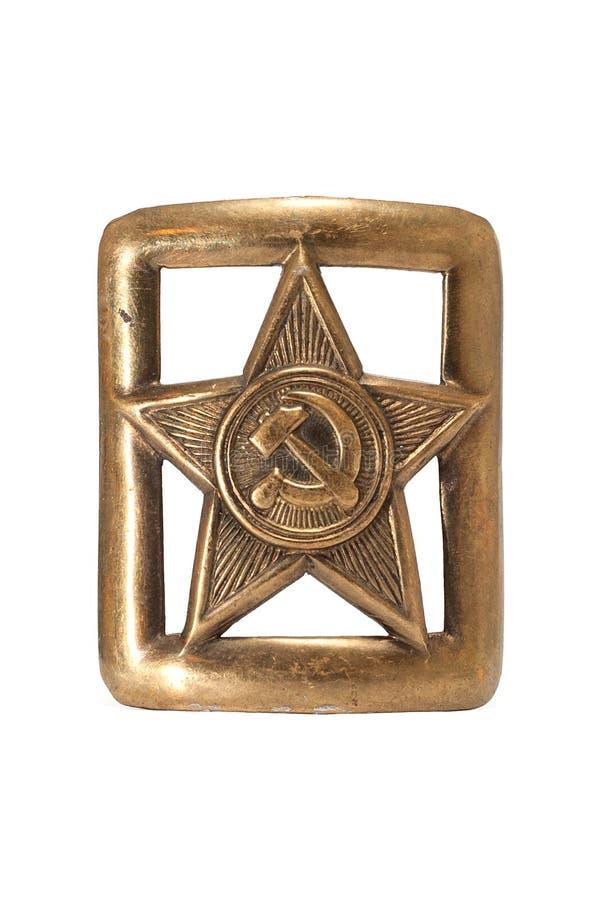Sowjetische Gürtelschnalle stockfotografie