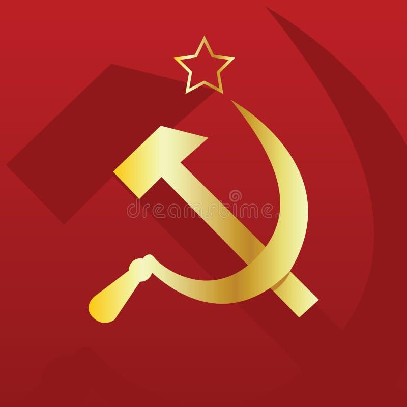 Sowjetische Markierungsfahne lizenzfreie abbildung