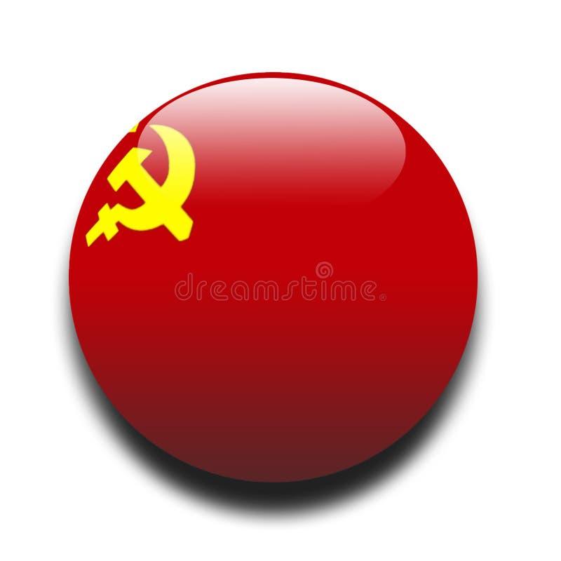 Sowjetische Markierungsfahne stock abbildung