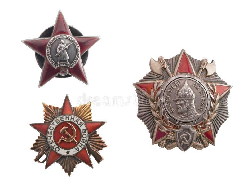 Sowjetische Ordnung stockfoto