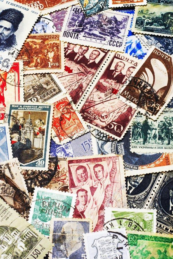 Sowjetische Poststempel stockbilder