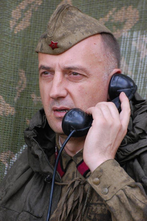 Sowjetischer Soldat stockfoto
