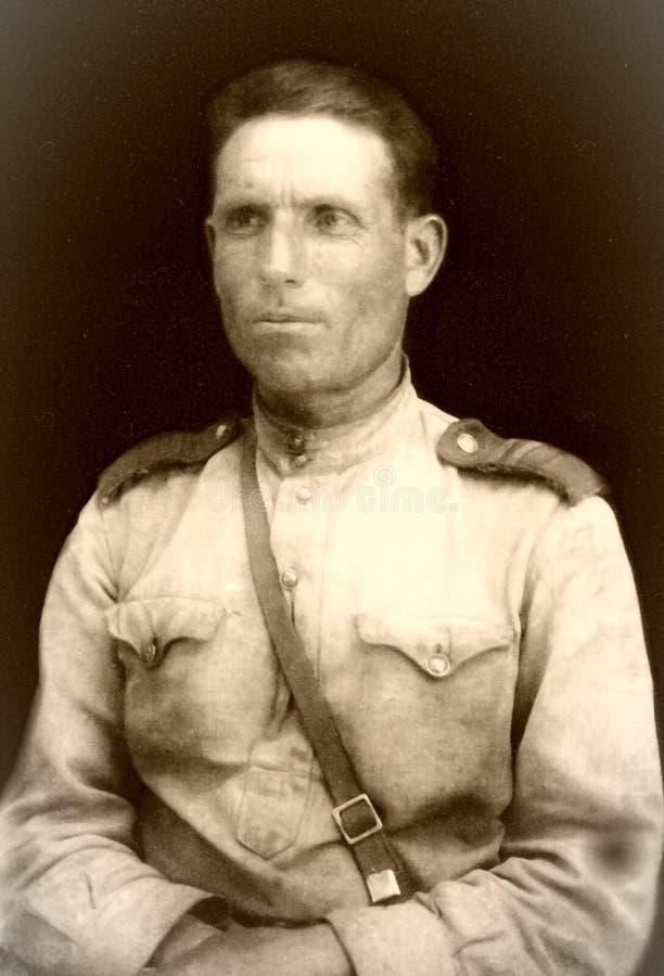 Sowjetischer Soldat, Zweiter Weltkrieg stockbild