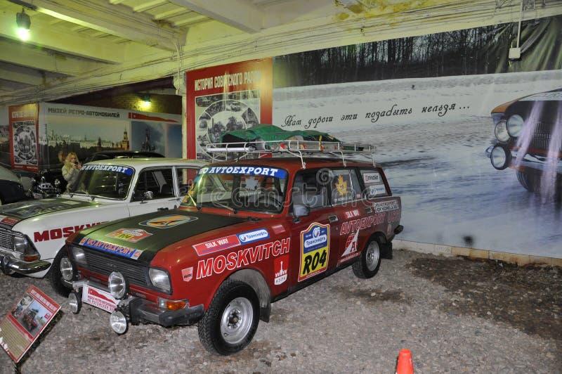 Sowjetisches Auto AZLK Moskvich des Sports SL 1600 RALLYE lizenzfreie stockfotografie
