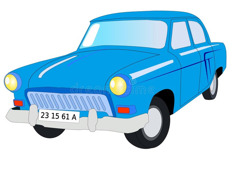 Sowjetisches Auto Volga lizenzfreie abbildung