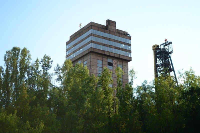 Sowjetisches Bergwerk lizenzfreies stockbild