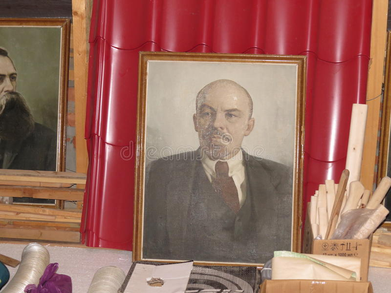 Sowjetisches Porträt von Lenin stockfotografie