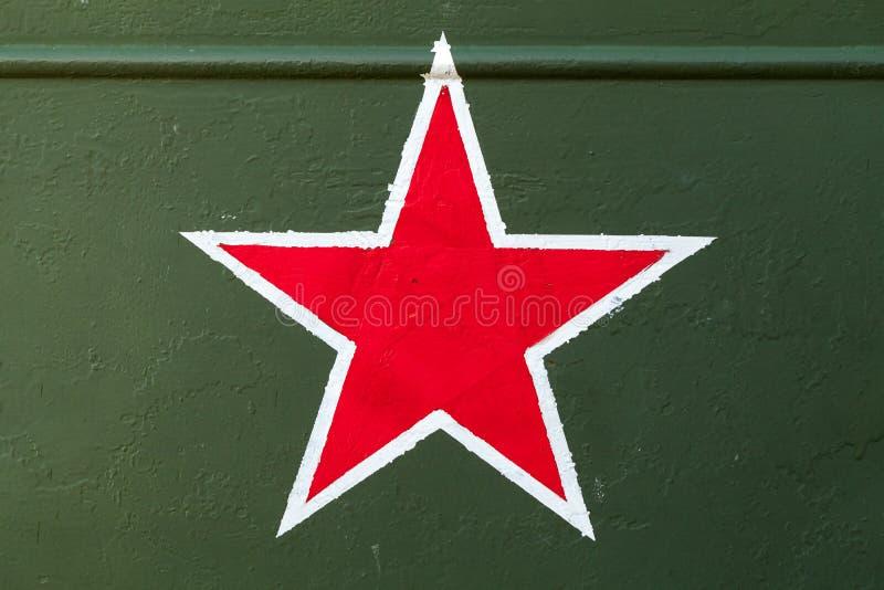 Sowjetisches Sternzeichen der roten Armee stockbilder
