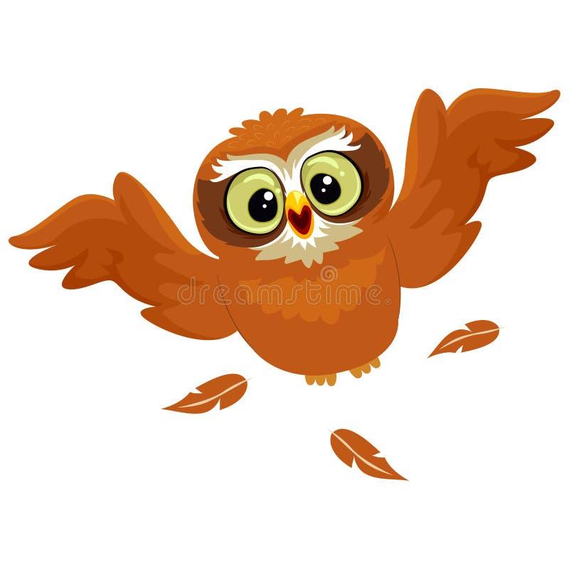 Sowy latanie ilustracja wektor