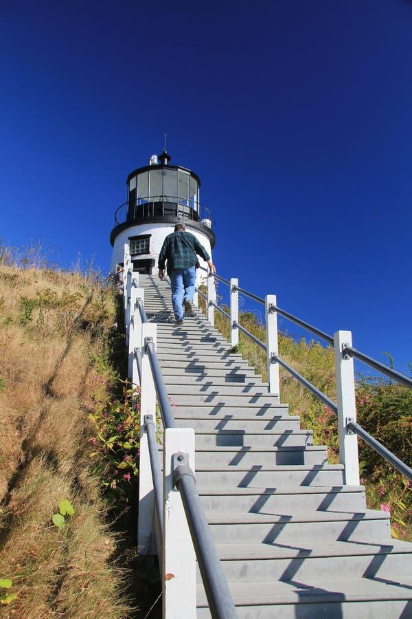 Sowy latarni morskiej Kierownicza stacja fotografia royalty free